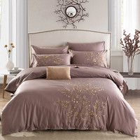 2016 Fashion Queen/King Embroidery Bed Set cotton Bedding Set Boho Style Bedding Moroccan Paisley Duvet Cover Set 4 PCS