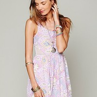 Free People Pieced Mesh Dress