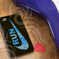 Nike Run Aztec Pattern For iPhone 4/4S iPhone 5/5S/5C and Samsung Galaxy S3 i9300 S4 i9500 *usahamodalsendiri*