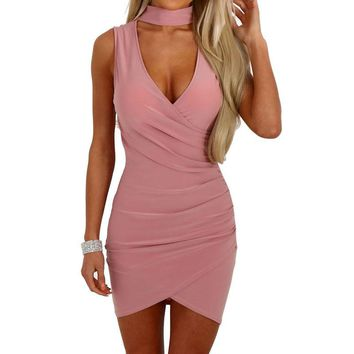 Fashion Sexy Women Dress Summer Hot Solid Women Sleeveless Bodycon Casual Dresses Party Evening Regular Mini Skater Dress 1