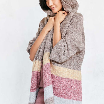 Silence + Noise Hooded Open Cardigan Sweater - Urban Outfitters
