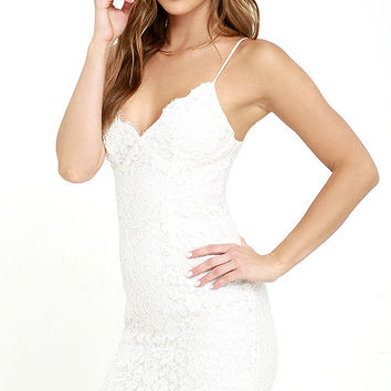 Picture of Perfection Ivory Lace Dress