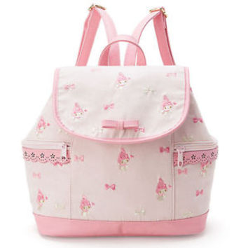 My Melody Backpack Pink Ribbon Embroidery ❤ Sanrio Japan