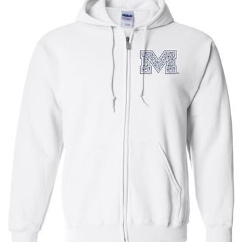 Official NCAA University of Mississippi Rebels Ole Miss Hotty Toddy Basic Zip Hoodie - 67LOLM