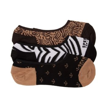 Womens Sperry Top-Sider Animal Liners 3 Pack