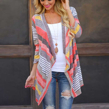 Long Sleeve Cardigan Outwear Knitted Jacket