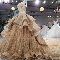 modabelle Elegant Gold Evening Dresses With Sequins Ball Gown Arabic Luxurious Evening Gowns 2018 Robe Longue Femme Soiree