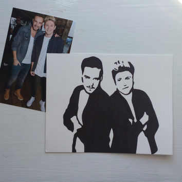 Niall Horan and Liam Payne (Niam) One Direction Popart