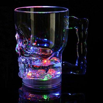 Glow Castle Water lights induced skull cup light colorful induction cup LED colorful flash big beer