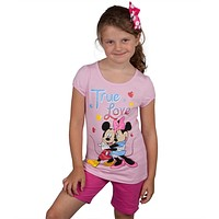 Minnie Mouse - With Mickey True Love Juvy Shirt and Shorts Set
