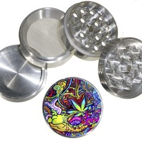 Fashion Weed Design Indian Aluminum Spice Herb Grinder With Design Item #100814-013