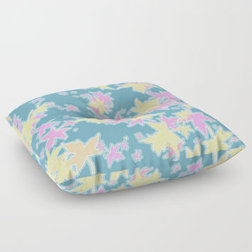 Autumn Leaves in Pastel Floor Pillow by barbara gelman