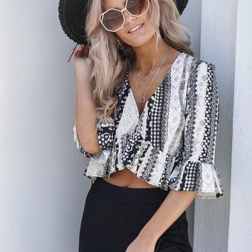 Lost In You Grunge Lace Top