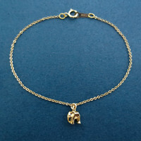 Small, Elephant, Goldfilled, Bracelet