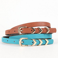 With Love From CA Chevron Keeper 2 Pack Belt Set at PacSun.com
