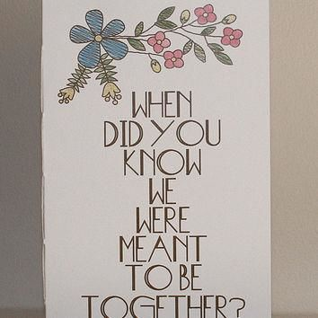 Wedding Table Question Books - Medium Size- Conversation Starters
