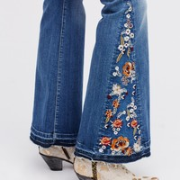 Free People Farrah Embroidered Flare