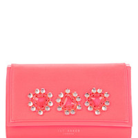 Jewelled oversized clutch - Bright Pink | Bags | Ted Baker UK