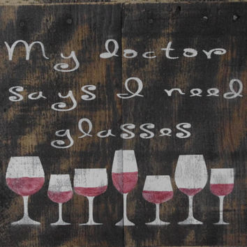 Wood Wine Sign - Rustic Sign - Pallet Wood Sign - Rustic Wood Sign - Father's Day Gift - Gift For Him - Bar Sign - Rustic decor - For Mom