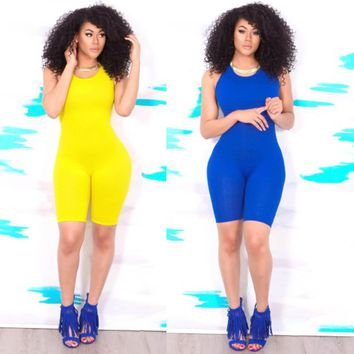 Hot Basic Women Bodysuits Cotton Women Rompers One Pieces Bodycon Jumpsuits Overalls Skinny Jumpsuit
