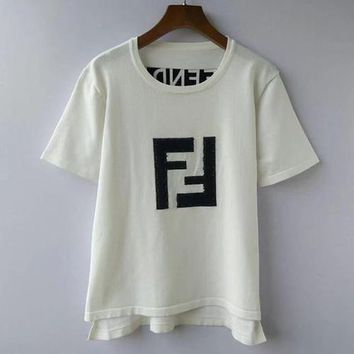 Fendi Women Short Sleeve Shirt Top Tee