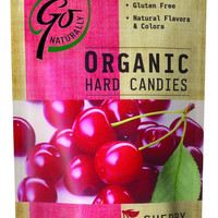 Go Organic Hard Candy - Cherry - 3.5 Oz - Case Of 6