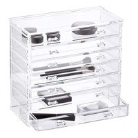 7-Drawer Premium Acrylic Chest Clear
