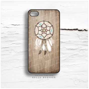 iPhone 6 Case, iPhone 5C Case Wood Print, iPhone 5s Case Dream Catcher, iPhone 4s Case, Geometric iPhone Case, Feather iPhone Cover I91