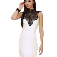 Beautiful White Dress - Lace Dress - Body-Con Dress - $39.00