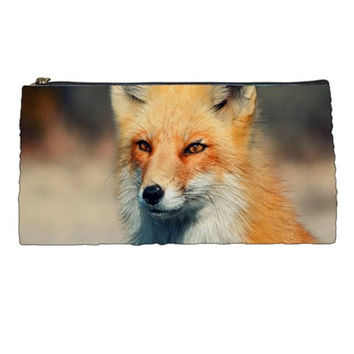 Animal Fox Waiting For Love Pencil Case