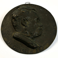 1892 Bronze Plaque, Louis Pasteur, Henry Bonnard