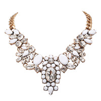 Novelty Vintage Crystal Statement Necklace