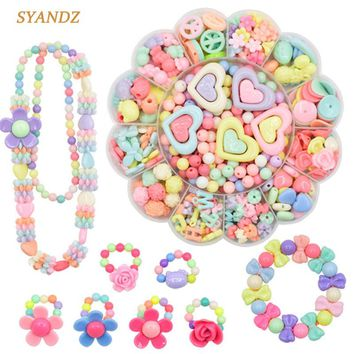 Fashion Toys For Girl Colorful Toy DIY Bracelet Toys Jewelry Making Kids Hama Beads Set Educational 3D Puzzle Perler Beads Toys