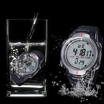 Synoke Water Resistant Sports Watch