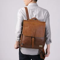Retro Leather Backpack