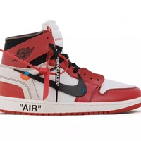 KU-YOU OFF WHITE x Air Jordan 1 Red