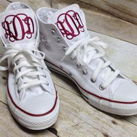 Monogrammed Converse High Tops, Monogrammed Chucks, Monogrammed Chuck Taylors, Persona