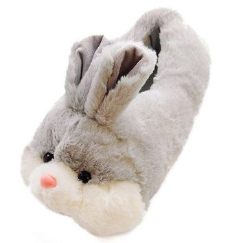 CREYIX5 Caramella Bubble Classic Bunny Slippers | Fuzzy Slippers For Lovers | Cozy Fun Plush Indoor Shoe | Soft Sole Clog | Warm Anti-Slip House Slippers For Women