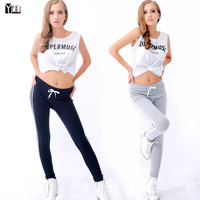 2015 new fashion women's casual pants Loose Trousers Sports Pants female Sweatpants Pant Trousers Joggers Capris Free size 9328