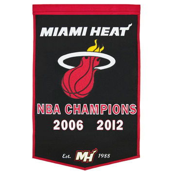 Miami Heat NBA Dynasty Banner (24x36)