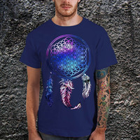 Bring Me The Horizon Dream Catcher Galaxy T-Shirt, BMTH Rock Band Logo Galaxy Men T-Shirt - Cotton Men T-Shirt ( Various Color Available )