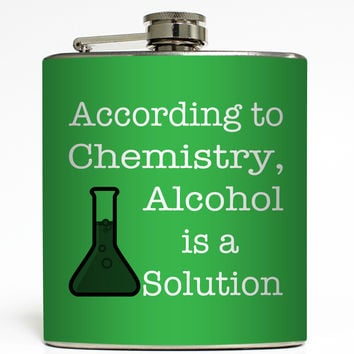 Alcohol is a Solution - Funny Chemistry Flask