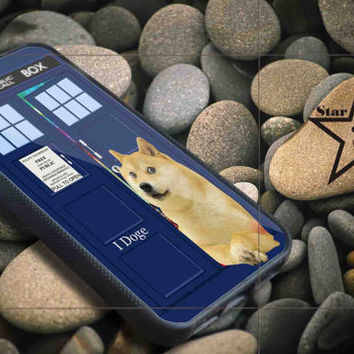 iDoge Shibe Doge on tardis doctor who iPhone Case, iPhone 4/4S, 5/5S, 5c, Samsung S3, S4 Case, Hard Plastic and Rubber Case By Dsign Star 08