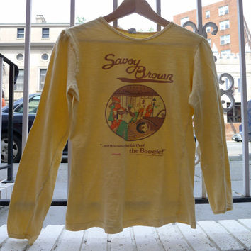 Vintage SAVOY BROWN shirt The Birth Of The Boogie RARE 60s / 70s blues rock psychedelic concert tour shirt savoy brown tshirt promo