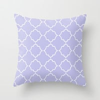 Moroccan Periwinkle Throw Pillow by House Of Jennifer | Society6