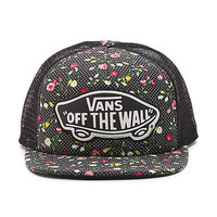 VANS BEACH GIRL - Womens Trucker Hat (NEW w/ FREE SHIP) Snapback Cap FLORAL DOTS