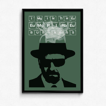 Breaking Bad Poster Walter White Quote - I'm In The Empire Business - Art Print, Multiple Sizes - 12x18, 24x36 - Vintage Minimal Style
