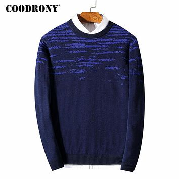 Men Sweater Winter Thick Warm Cashmere Pullover Men Pure Merino Wool Sweaters Casual O-Neck Pull Home