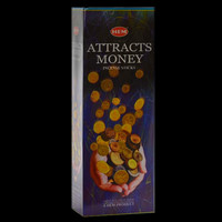 """HEM 10"""" Incense Sticks 20 pack Attracts Money - Made in INDIA"""