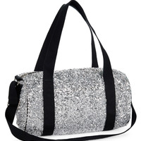 PS from Aero  Girls Sequin Duffel Bag - Gray, One
